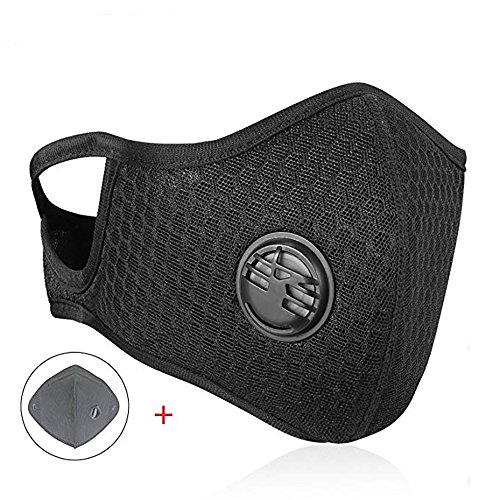 Dust Mask MLD Dustproof Mask Upgrade Summer Fitness Masks with Earloop Adjustable Activated Carbon Filtration Exhaust Anti Pollen Allergy for Outdoor Activities -