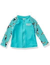 Roxy Little Girls Birds Long Sleeve Zip Lycra, Bright White Sample, 2