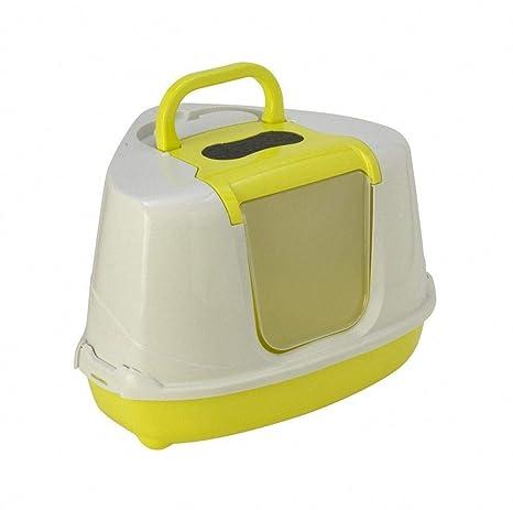 Moderna Bandeja Sanitaria Cubierta Rinconera para Gato - Sanitario Toilet - Flip Corner- Color Pistacho Limón