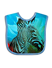 QIZI Unisex Baby Bandana Drool Bibs Pop Zebra Cotton Neck Saliva Adjustable Towel Toddler for Girls Boys