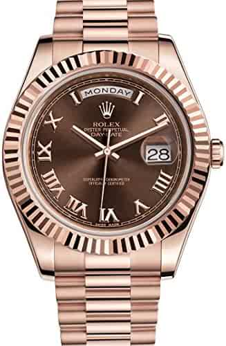 Rolex Day-Date II 41 President Everose Gold Watch Chocolate Dial 218235