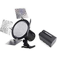 Yongnuo YN-216 YN216 Pro LED Video Light 3200K-5500K Color Temperature for Canon Nikon DSLR Camera DV and Camcorder with WINGONEER NP-F770 Battery and Battery Charger