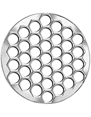 Dciustfhe Household Dumpling Maker, 37 Holes Pie Ravioli Dumpling Wrappers Mould Dumpling Skin Round Model Aluminum Alloy
