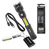 Nebo Slyde King 330 Lumen USB rechargeable LED flashlight/Worklight, True Utility BulletStash with EdisonBright USB charger bundle