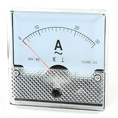 uxcell Fine Tuning AC 0-30A Current Analog Panel Meter Ammeter Tester (Ac Analog Ammeter)