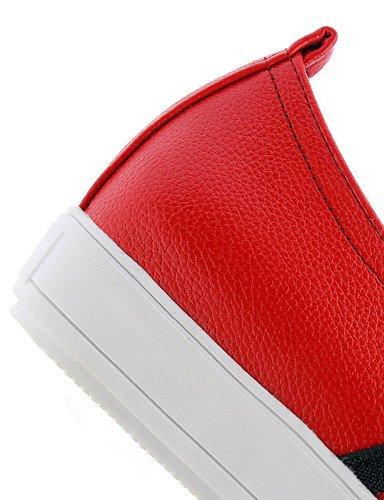Plataforma cn44 de us11 red Casual uk9 red us4 Mocasines Exterior uk9 eu43 eu43 eu34 Zapatos cn4 4 Negro Vestido red uk2 Plataforma Creepers Rojo ZQ 5 Semicuero Blanco cn33 2 5 gyht mujer us11 qHvnawUxEI