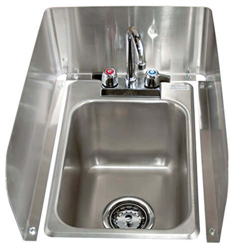 BK Resources BK-DIS-1014-10-SS-P-G Stainless Steel 1 Compartment Drop in Sink with 4