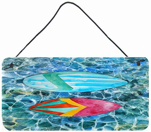 Caroline's Treasures Surf Boards on the Water Metal Print, 8 H x 12 W, Multicolor