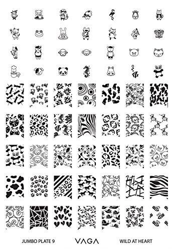 VAGA Nail Art Stamping Kit Jumbo Manicure Image