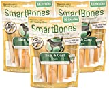 (3 Pack) SmartBones Functional Skin and Coat Natural Care Chicken Treat Sticks for Dogs - 16 Bones per Pack