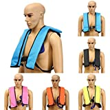 CAMTOA Inflatable Life Vest, Manual Inflatable PFD Life Jacket Outdoor Portable Life Vest Adult for Water safety Boating Survival Aid Sailing