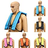 Inflatable Life Vest,CAMTOA Manual Inflatable PFD Life Jacket Outdoor Portable Life Vest Adult for Water safety Boating Survival Aid Sailing Orange
