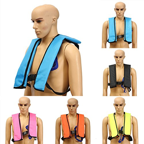 Inflatable Pfd Vest (Inflatable Life Vest,CAMTOA Manual Inflatable PFD Life Jacket Outdoor Portable Life Vest Adult for Water safety Boating Survival Aid Sailing Orange)
