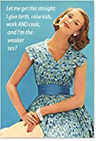 """0229 'Weaker S' - Funny Mother's Day Greeting Card with 5"""" x 7"""" Envelope by NobleWorks"""