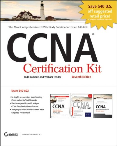 CCNA Cisco Certified Network Associate Certification Kit (640-802) Set, Includes CDs (Best Ccna Lab Kit)