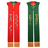 BLESSUME Priest Reversible Stole Embroidered Chasuble Stole