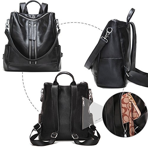 Convertible Leather Modoker for Purse Shoulder Women Backpack Bag Travel Weekender YwTYX