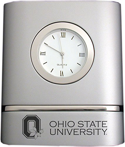 LXG, Inc. Ohio State University- Two-Toned Desk Clock -Silver