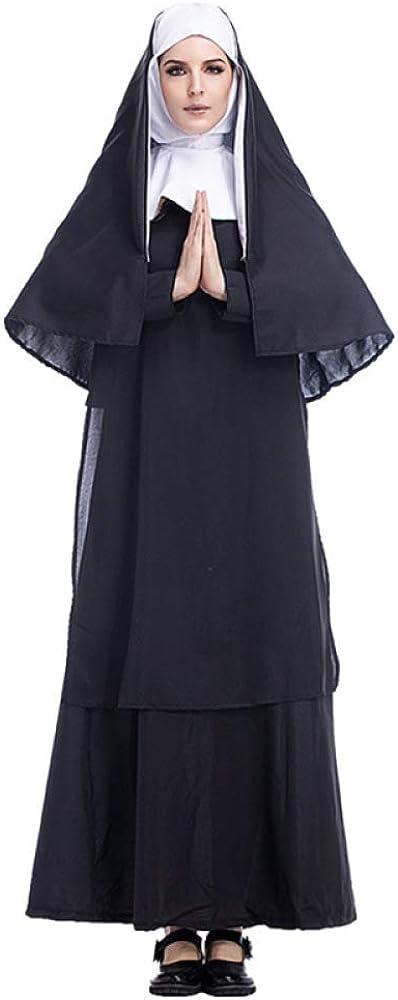 2REMISE Disfraz De Halloween Adulto Jesucristo Hombre Misionero Pastor Ropa María Sacerdote Monja Servicio Juego De Roles