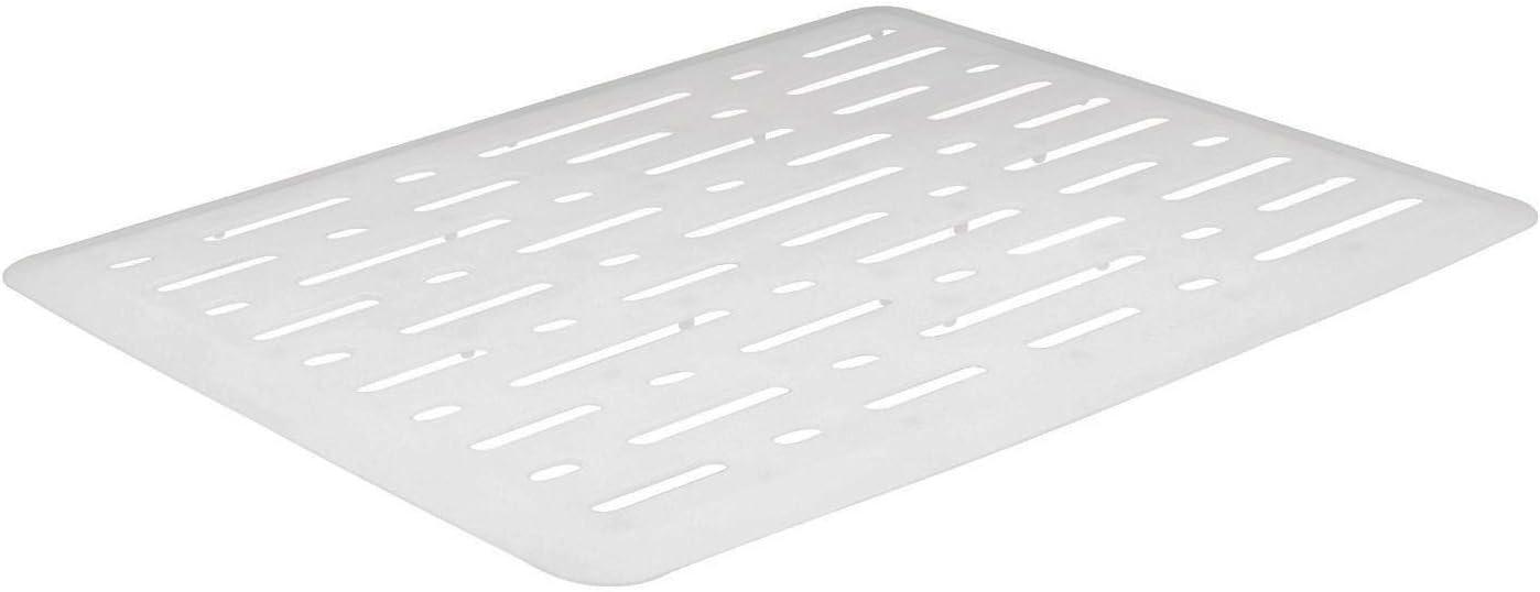 Rubbermaid Sink Mat, Large, White FG1G1606WHT