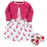 Best Baby Springs - Hudson Baby Girl Baby Cardigan, Dress and Shoes Review