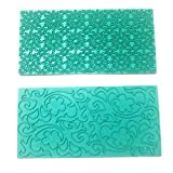 Mikiso Imprint Mat Set Gumpaste Flower deisgn Press Mold Fondant Cake Embosser for Cupcake Top Decoration Color Random