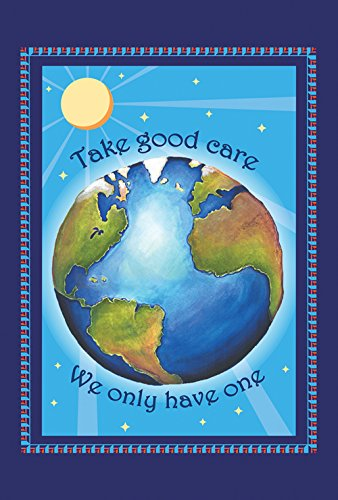 Toland Home Garden Protect Earth 28 x 40 Inch Decorative Take Care Conserve Save Planet House Flag