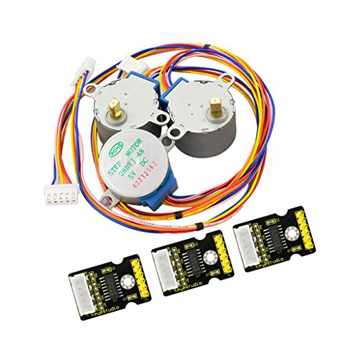 Prettyia 3pcs Sets 28BYJ-48 ULN2003 5V Stepper Motor + ULN2003 Driver Board for Arduino by Prettyia