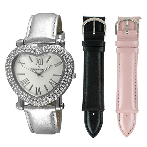 Peugeot Women's Heart Shaped Interchangeable Crystal Set - Heart Watches Crystal Shaped