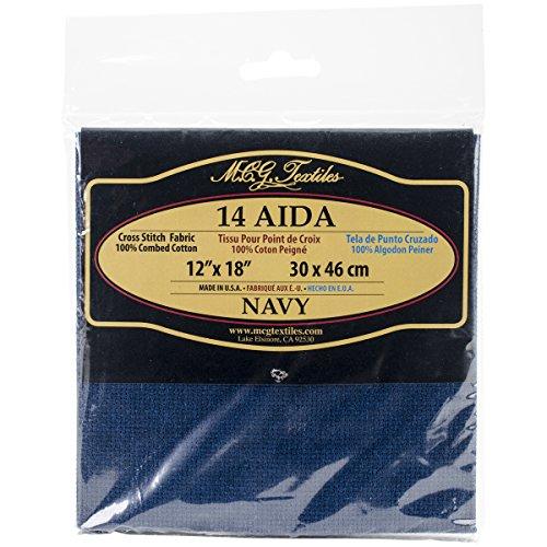 Textiles 14 Count Aida Navy