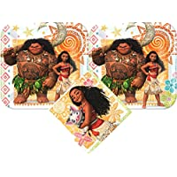 Moana Party Supplies Pack with Cake Plates and Napkins for 16 Guests