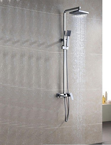 Ling@ Shower Tap Shower Faucet Contemporary Rain Shower / Handshower Included Brass Chrome price