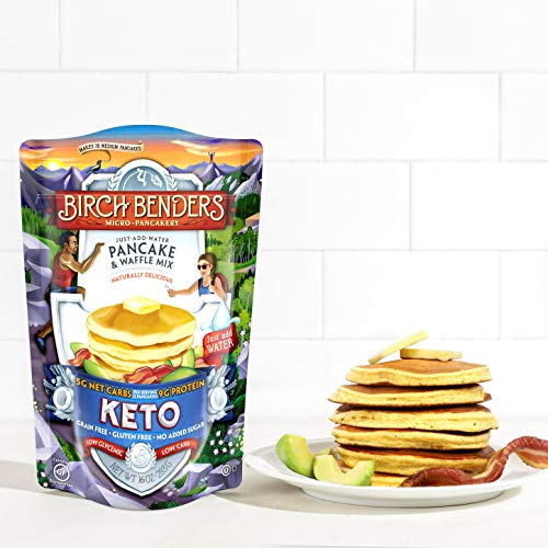 Birch Benders Keto Pancake & Waffle Mix, Low-Carb, High Protein, Grain-free, Gluten-free, Low Glycemic, Keto-Friendly, Made with Almond, Coconut & Cassava Flour, Just Add Water, 16 Ounce (Pack of 1) 3