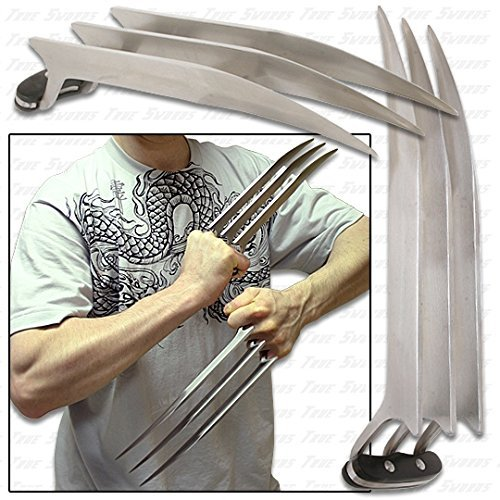 One Pair of Stainless Cosplay Steel Wolverine Claws]()