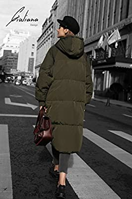 YOU.U Women Water / Stain Resistant Anorak Winter Long Quilted Coat