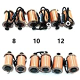 Getbetterlife tattoo machine coil 0.5mm 8/10/12 Wrap Copper Wire Coils Tattoo Gun Parts for Shader Liner Beauty Body Care (12 wraps coil)