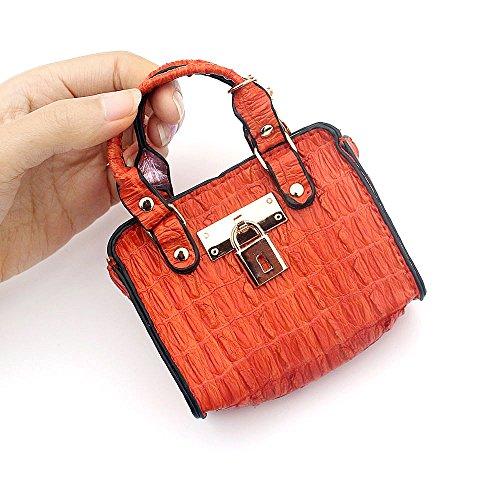 moneta sacchetto mini del arancia immagazzinaggio di modello cuoio moneta donne di della delle della della della Sacchetto borsa chiave mini borsa borsa della coccodrillo q0SXFxAF