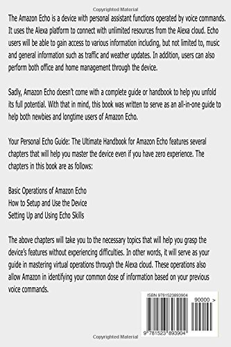 Amazon Echo The Best User Guide To Master Amazon Echo Fast Amazon
