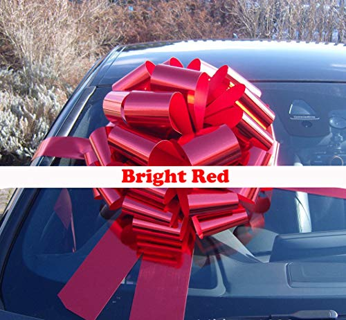 Faxco 16 inches Red Car Bows Flower Decoration,Ribbon