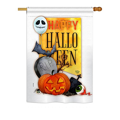 Ornament Collection H192073 Happy Halloween Spirit Fall Decorative Vertical House Flag, 28
