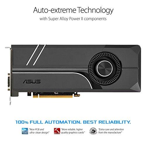 ASUS GeForce GTX 1070 TI 8GB GDDR5 Turbo Edition VR Ready DP HDMI DVI-D Graphics Card (TURBO-GTX1070TI-8G) by Asus (Image #1)