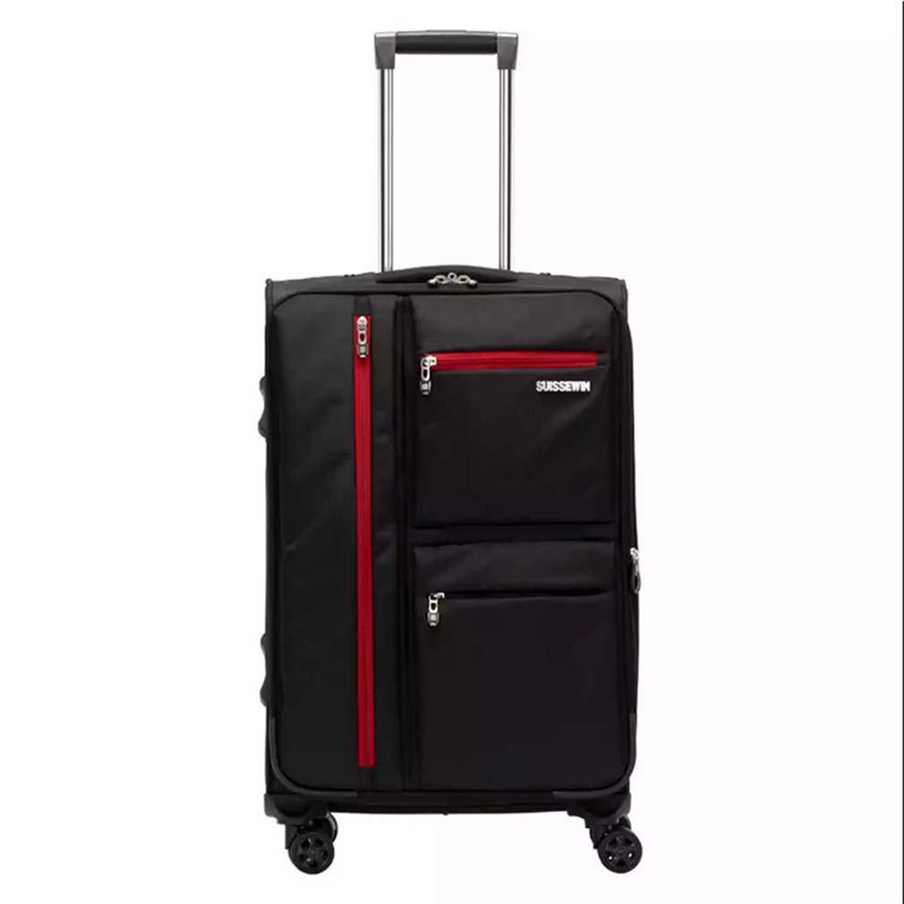 出張用スーツケース大容量レジャー用スーツケース20インチ、24インチ、28インチユニバーサルホイールトロリーケース(fenmei),Black,28inches 28inches Black B07R1H68GM