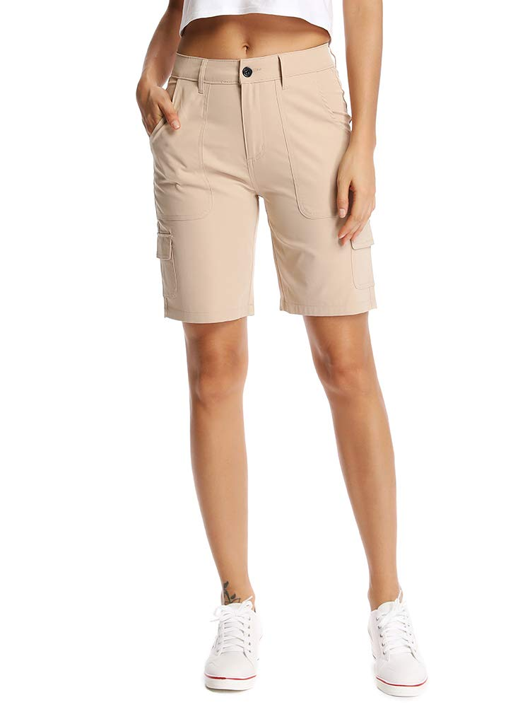 Asfixiado Womens Quick Dry Cargo Shorts,Outdoor Casual Straight Leg Shorts for Hiking Camping Travel #2047