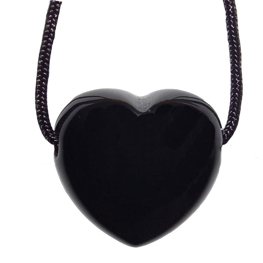 1 Stück Onyx Herz Anhänger 25 mm großes bauchiges Edelstein Herz Bohrung ca. 2,5 mm mit Band.(4750) Janni-Shop®