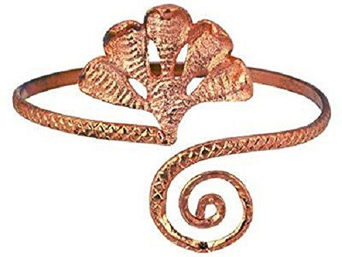 Five Cobra Upper Arm Cuff Bracelet / Armband in Antique Brass