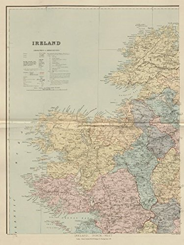 Map Of The West Of Ireland.Ireland North West Connacht Mayo Galway Roscommon Leitrim Stanford