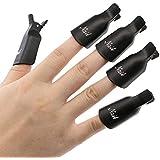 Sannysis - Juego de 10 piezas de plástico para la decoración de uñas, capuchones protectores con clip para gel UV