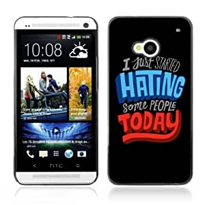 Designer Depo Hard Protection Case for HTC One M7 / Message C Hate People