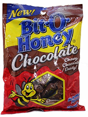 BIT-O-HONEY 3.7 oz Bag of Candy Candies TAFFY Gluten-Free Chocolate Flavored