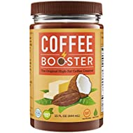Coffee Booster - Organic High-Fat Coffee Creamer - All Natural Keto Friendly Butter Blend of Grass-fed Ghee, Coconut Oil and Raw Cacao 15 oz (Original)